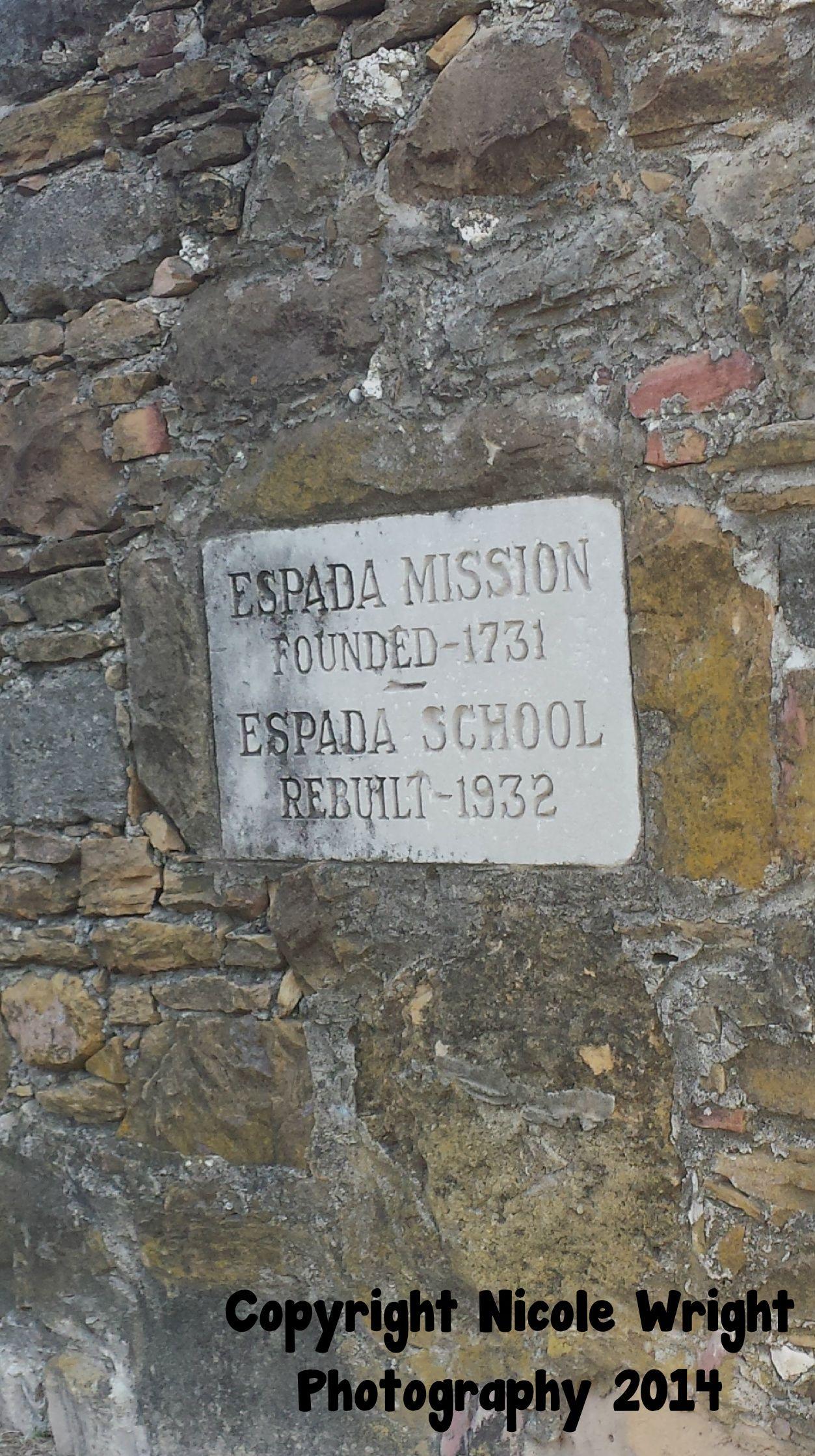 Espada Mission in San Antonio Texas February 2014 San
