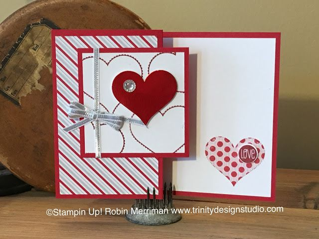 handmade Valentine card from Trinity Designs  zfold design