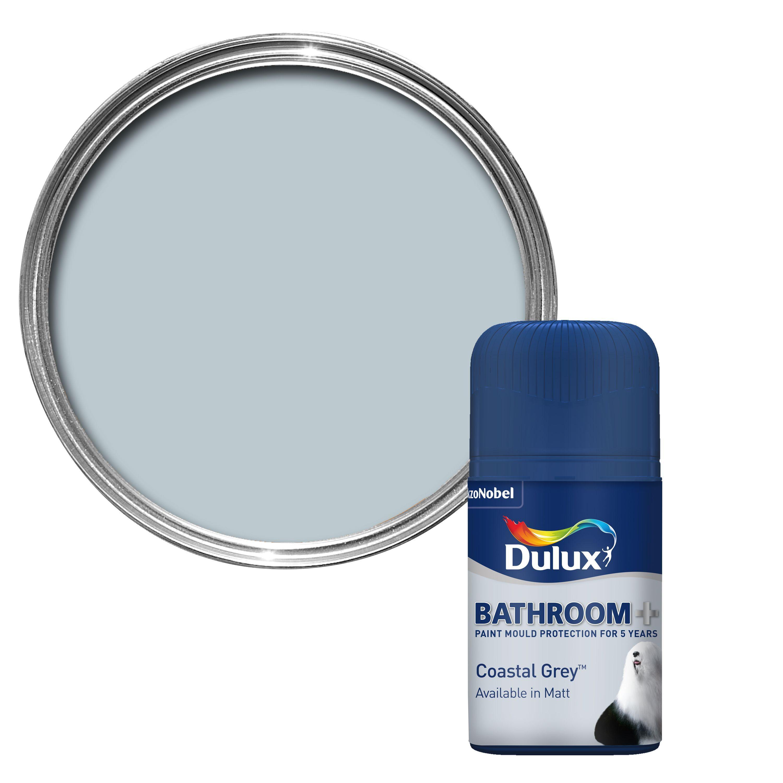 Dulux Bathroom Coastal Grey Soft Sheen Paint 50ml Departments Diy At B Q Dulux Soft Sheen Paint Paint Testers