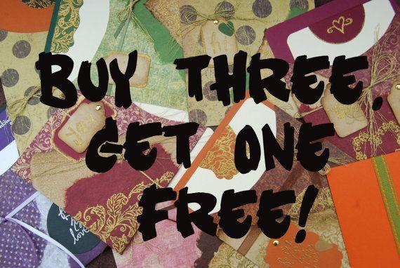 Handmade Blank Notecards. Buy 3 Get 4th Free. by CardsbyBeckyLynn, $10.50