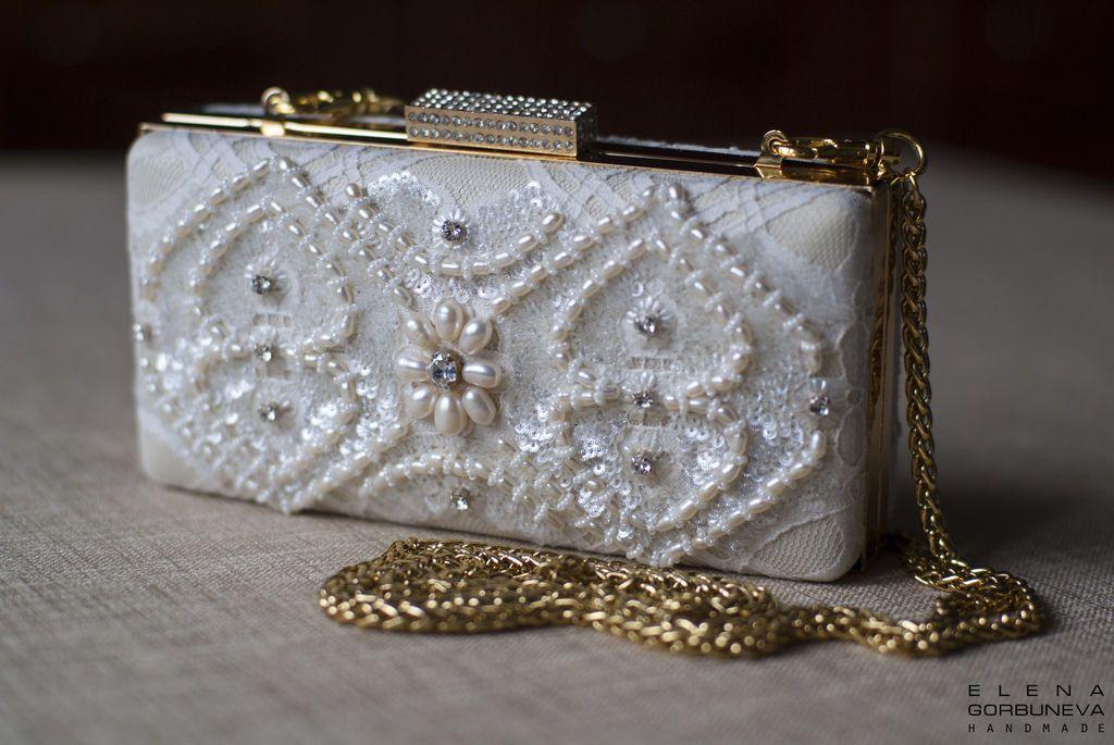 """Купить Клатч """"Жемчужный цветок"""" - клатч, клатч из натуральной кожи, сумочка, сумочка женская"""