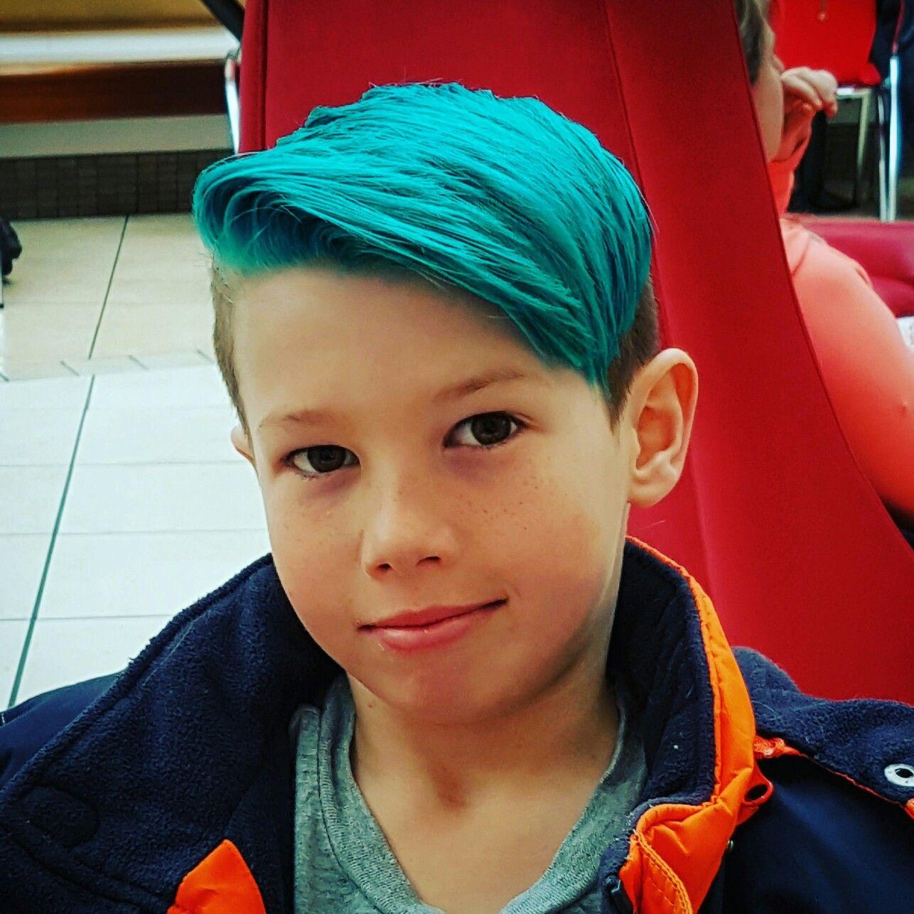 Blue Men S Fade Boys Blue Hair Boys Colored Hair Kids Hair Color