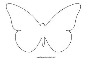 Farfalle Sagome Da Ritagliare Farfalle Sagome Farfalle Di Carta