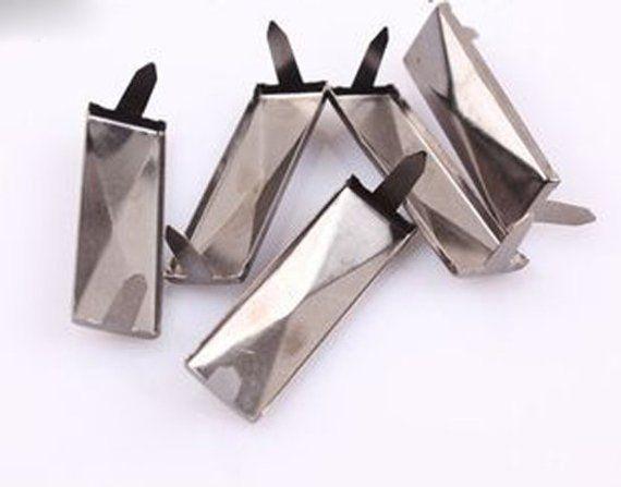 DIY Metal Horn rivets Studs Rivets Spikes Punk Bag Belt Leathercraft Silver
