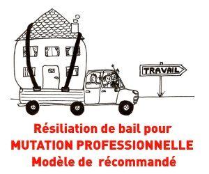 Modele De Lettre Gratuite Pour Resiler Un Bail Suite A Une Mutation