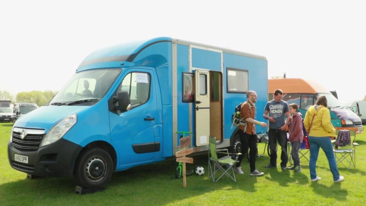 A British Gas Van Becomes The Perfect Family Camper Luton Conversion From Quirky Campers Youtube Van Renault Master Luton