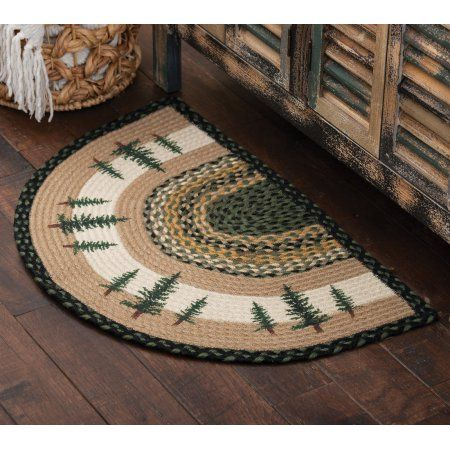 Buy Forest Pines Half Round Braided Rug At Walmart Com Round Braided Rug Round Rugs Rugs