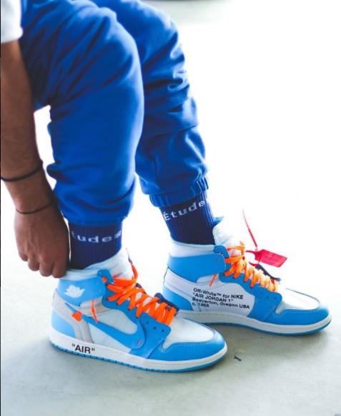 Off White X Air Jordan 1 Unc Powder Blue Aq0818 148 Air Jordans Air Jordan 1 Unc Off White Shoes