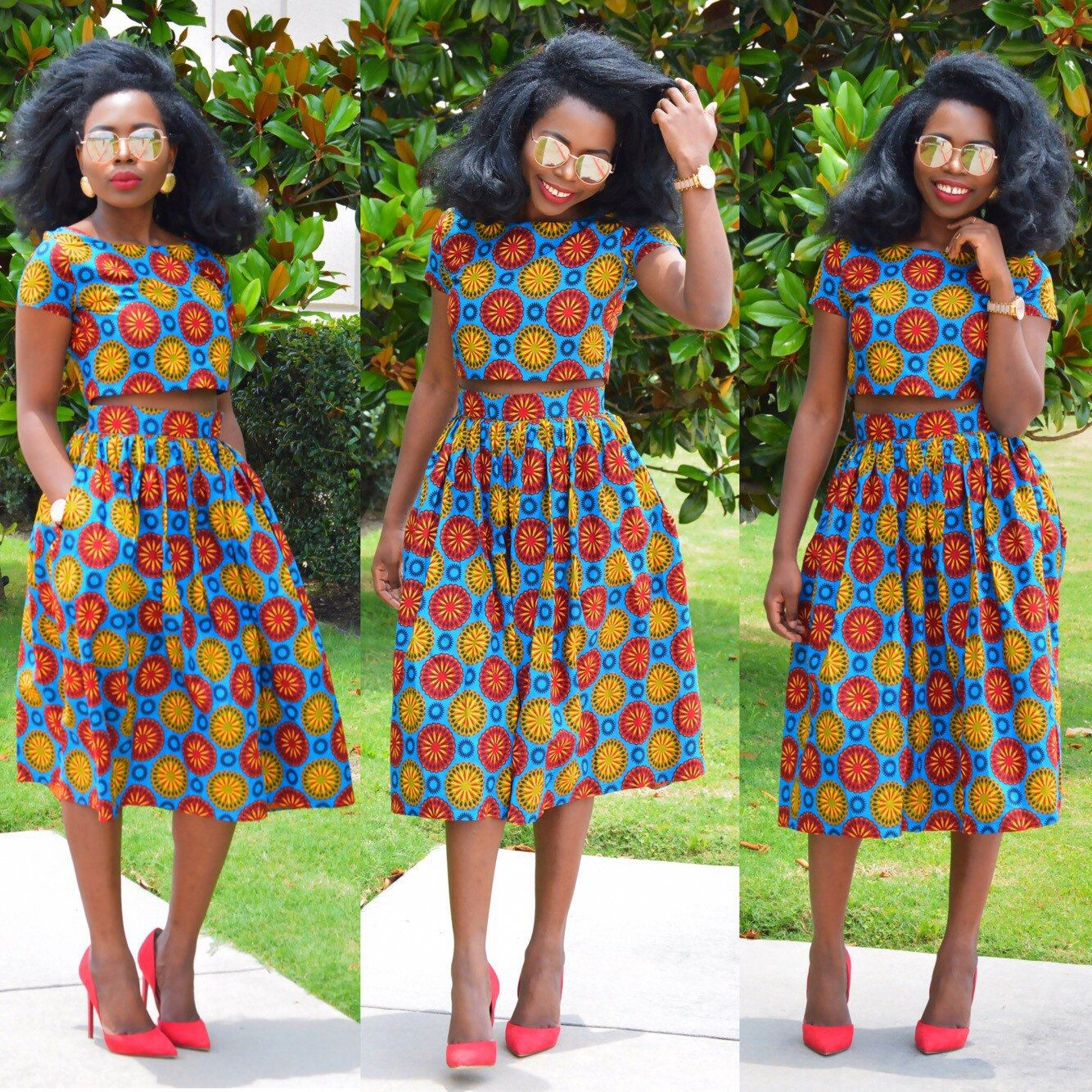 New Ankara Styles Siks Nd Tops: Ankara Skirt Crop Top And Skirt