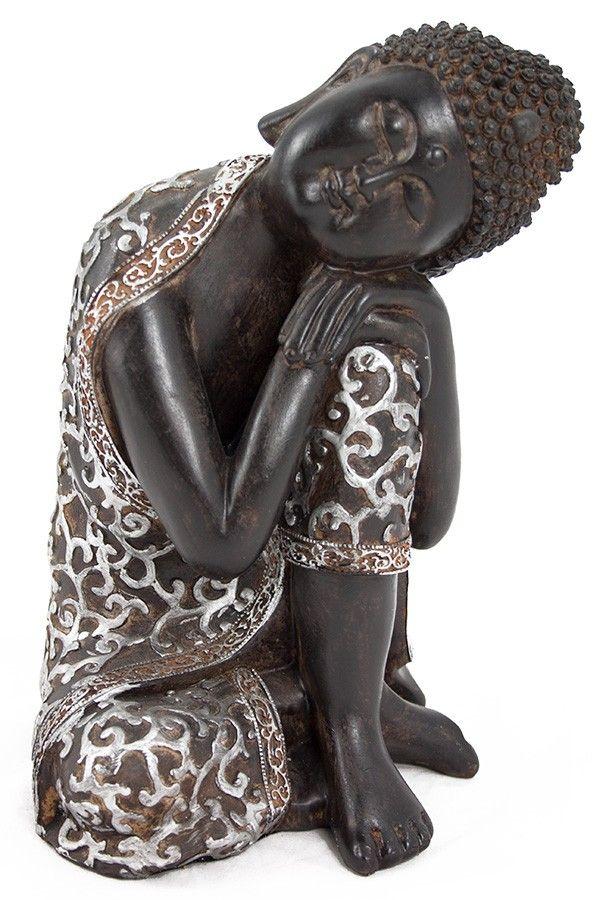 Buda dormido resina 22cm zalema decoracion rustic ethnic r stico tnico pinterest - Figuras buda decoracion ...