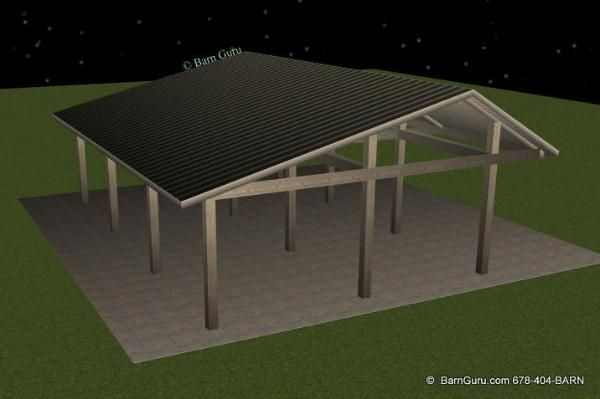 3 Stall Run In Tractor Shed Barn Plans Pinterest Tractor Barn And Deck Building Plans