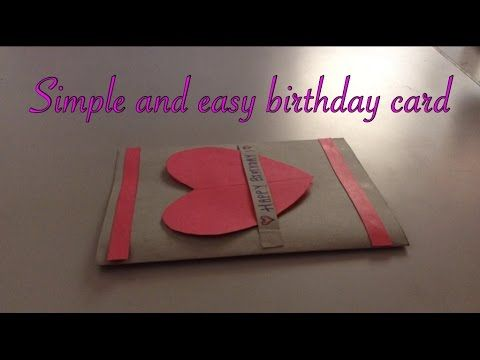 Simple And Easy Birthday Card Handmade