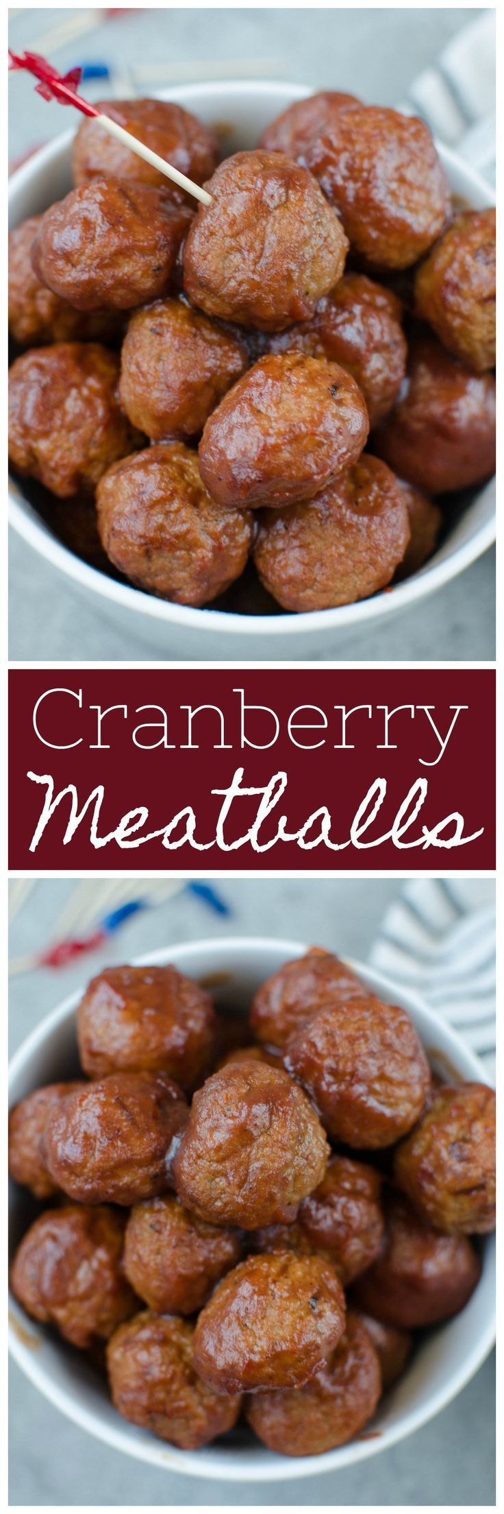 Slow Cooker Cranberry Meatballs #meatballswithgrapejelly