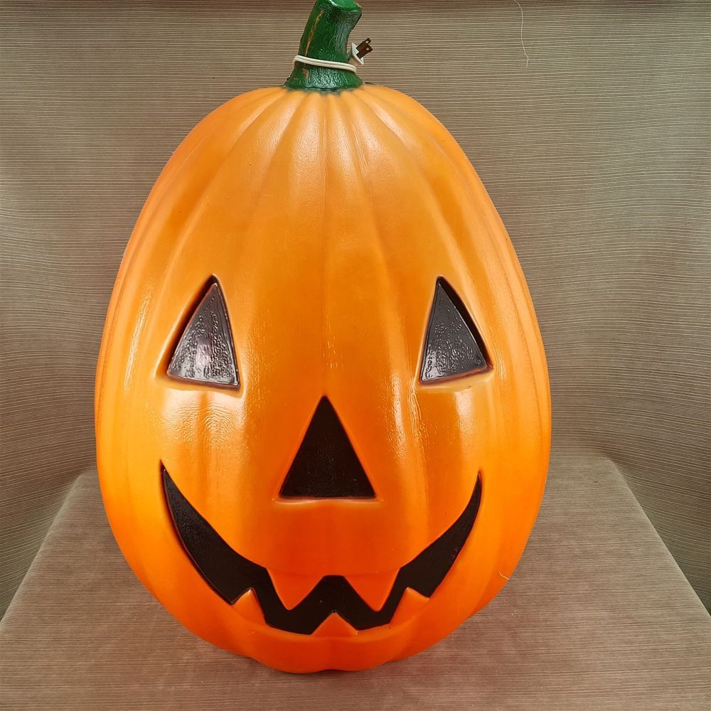 Empire Mold 30 Pumpkin Jack O Lantern Outdoor Light Vtg Decor