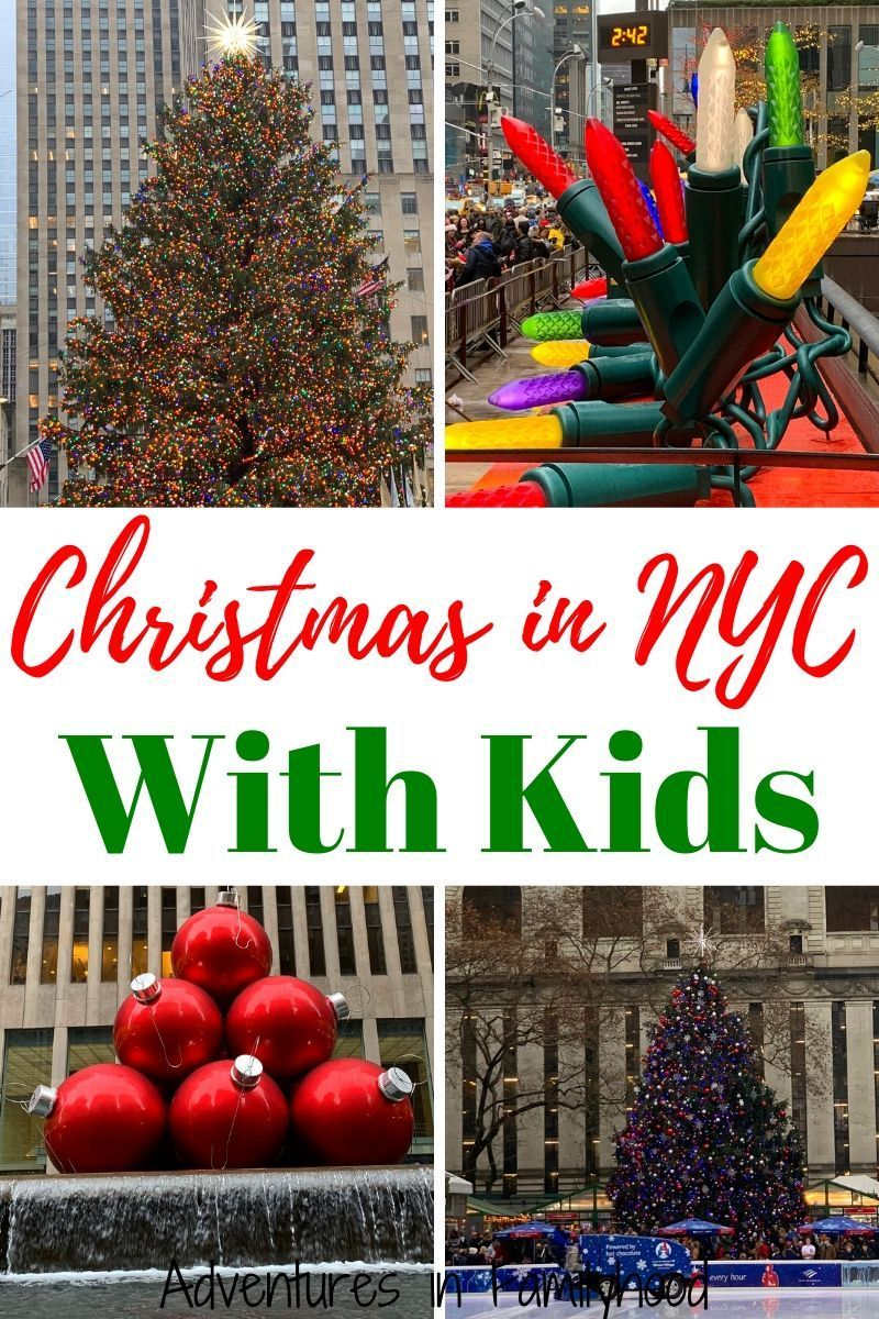 What to do in New York City with kids during the Christmas season. #newyorkcity #christmasinnyc