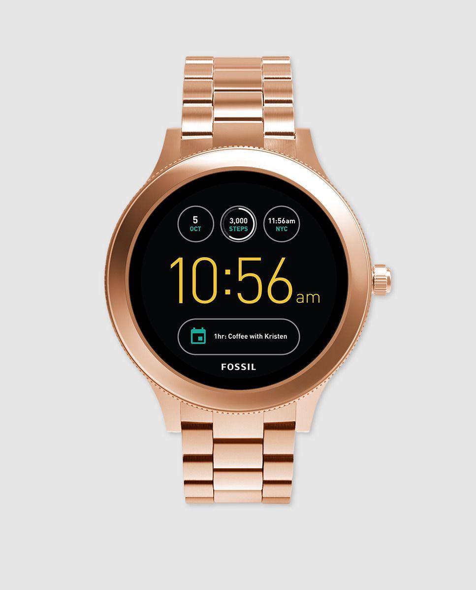 3f52b7f1fe86 Smartwatch Fossil FTW6000 de acero rosa
