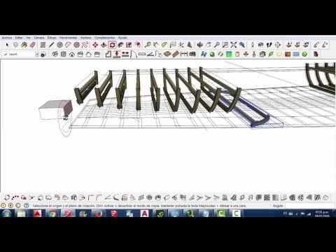 Parte 2 Dibujo 3D del armado estructural del casco de una embarcacion de...