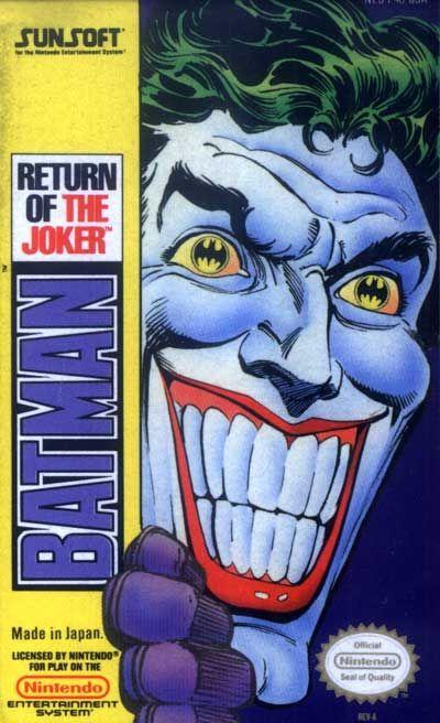 Batman Return Of The Joker Label Or Box Art Nintendo Games