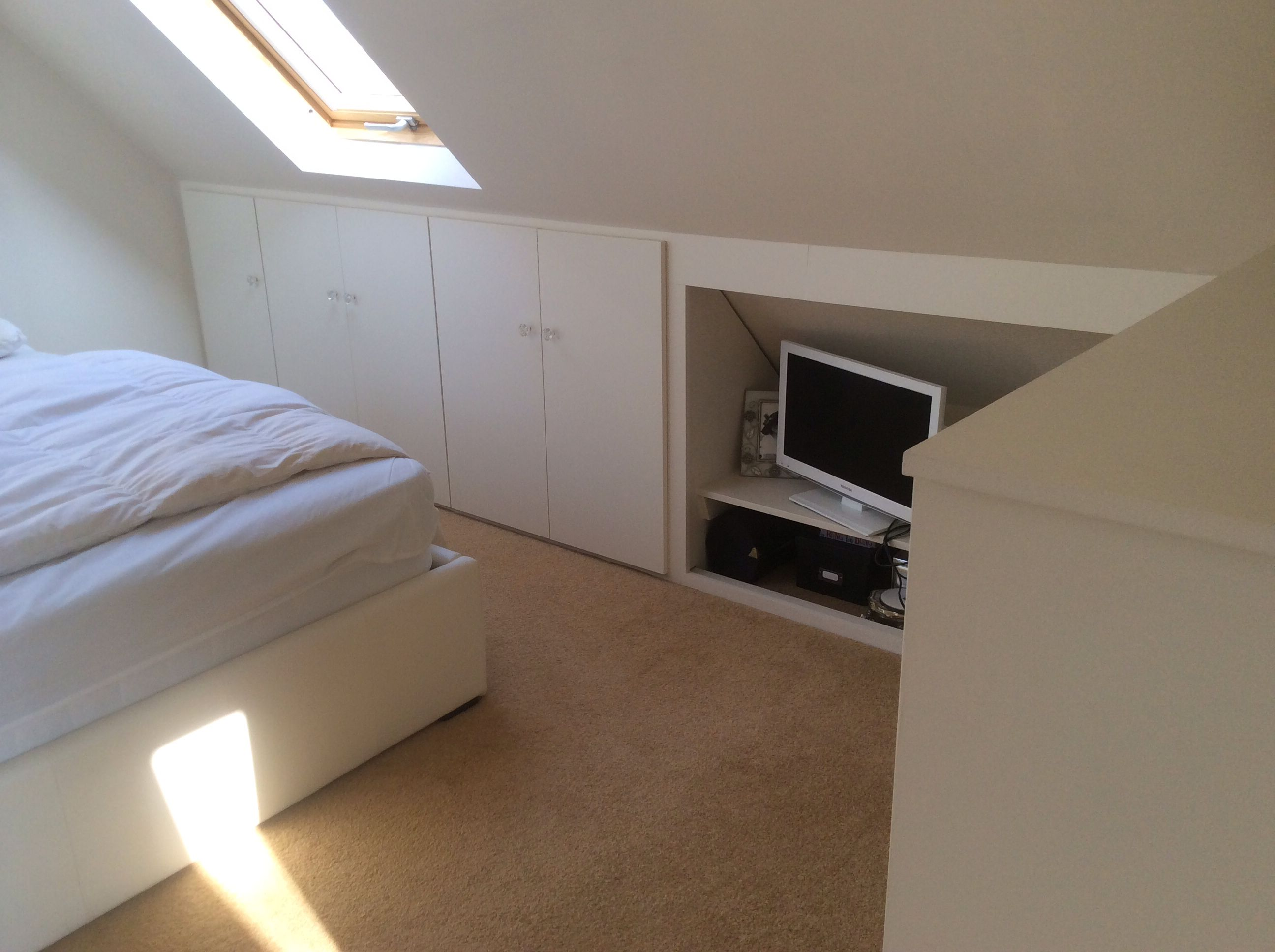 Loft Fitted Storage Cabinets - Designed To Work Eaves And