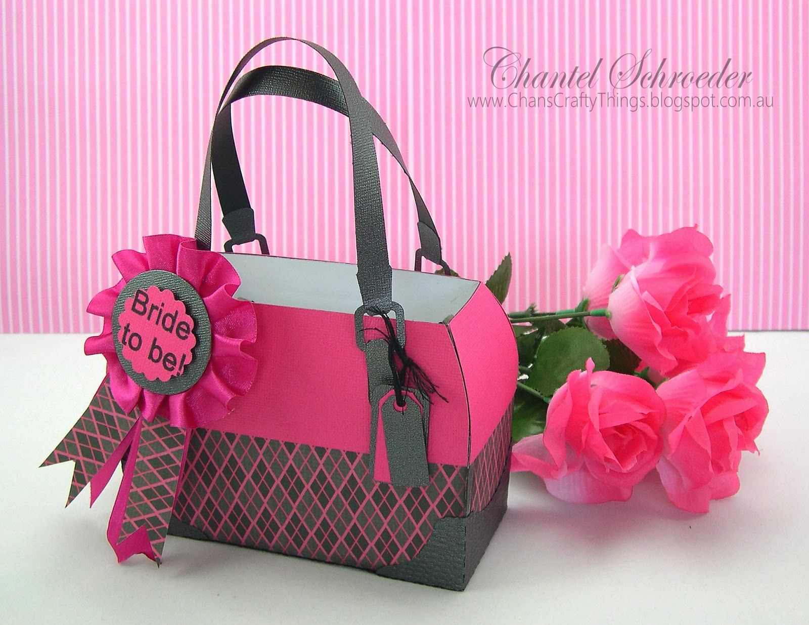 feba4a644cc7 LUXURY HANDBAGS SVG KIT is definitely the kit to have when needing a small  gift bag with a girlie touch! Chantel designed this pretty Satchel in her  ...
