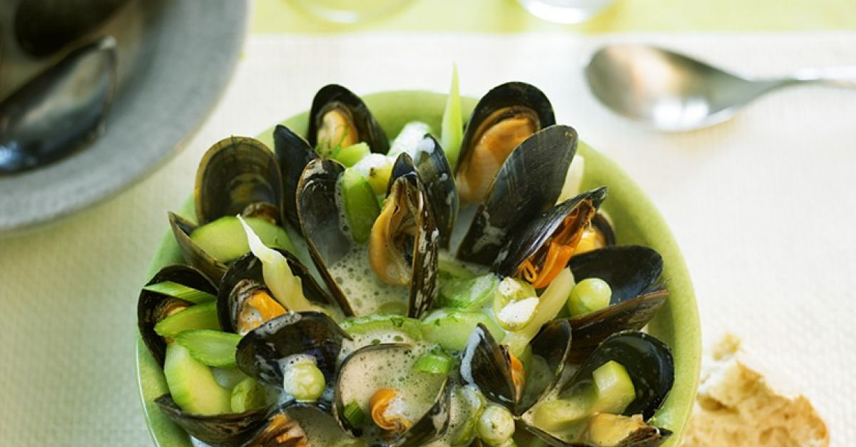 Photo of Vegetable and mussel soup with gooseberries