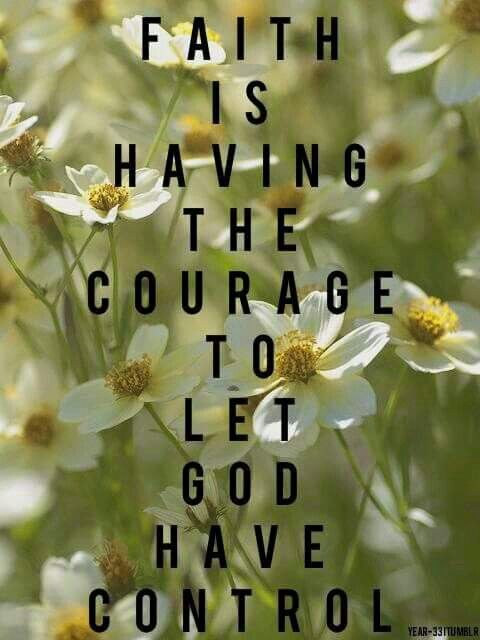 Let god have control