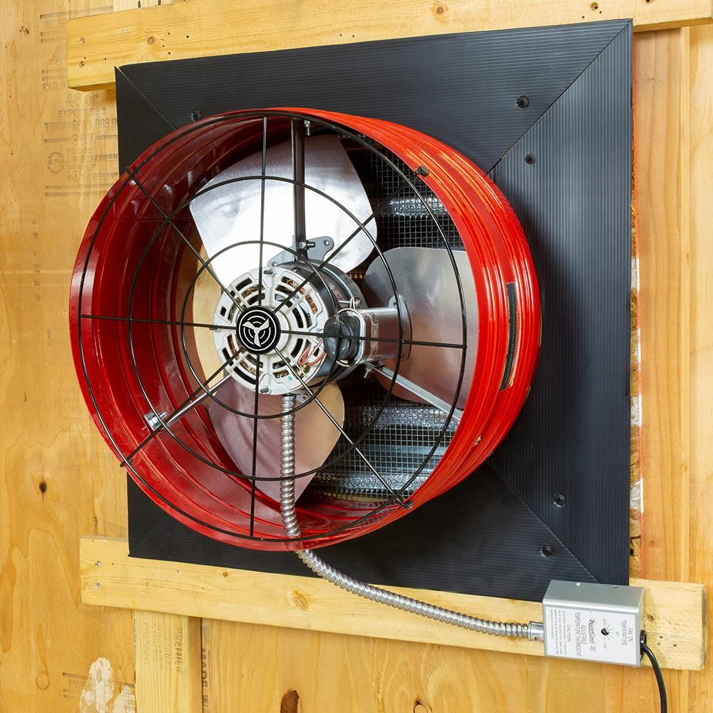 quietcool 2860 cfm red electric powered