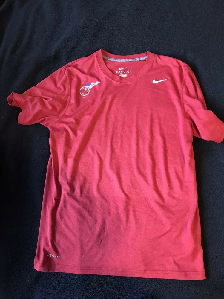 6131c8c96ce2 Mens USA Cycling Bmx Nike Dri-Fit Medium Red Short Sleeve  fashion   clothing  shoes  accessories  mensclothing  activewear (ebay link)