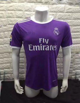 16 17 Real Madrid Football Shirt Away Purple Replica Jersey F829 With Images Soccer Jersey Jersey Shirt Cheap Football Shirts