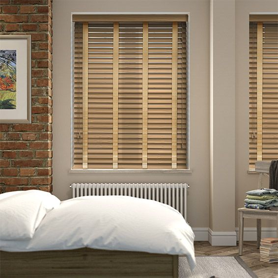 majestic wooden blinds for bathrooms. Majestic Oak  Sand Faux Wood Blind 50mm Slat wood blinds