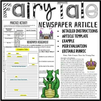 iRubric: WRITING A NEWSPAPER ARTICLE rubric
