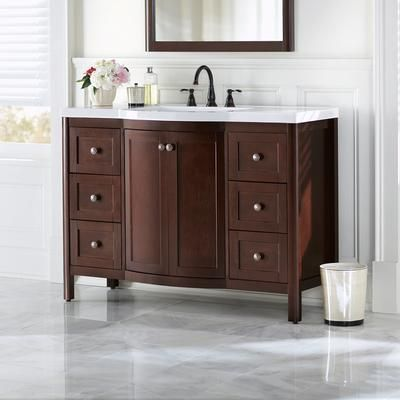 Home Decorators Collection   Madeline 48 Inch Vanity Combo In Chestnut    MD48P2C CN