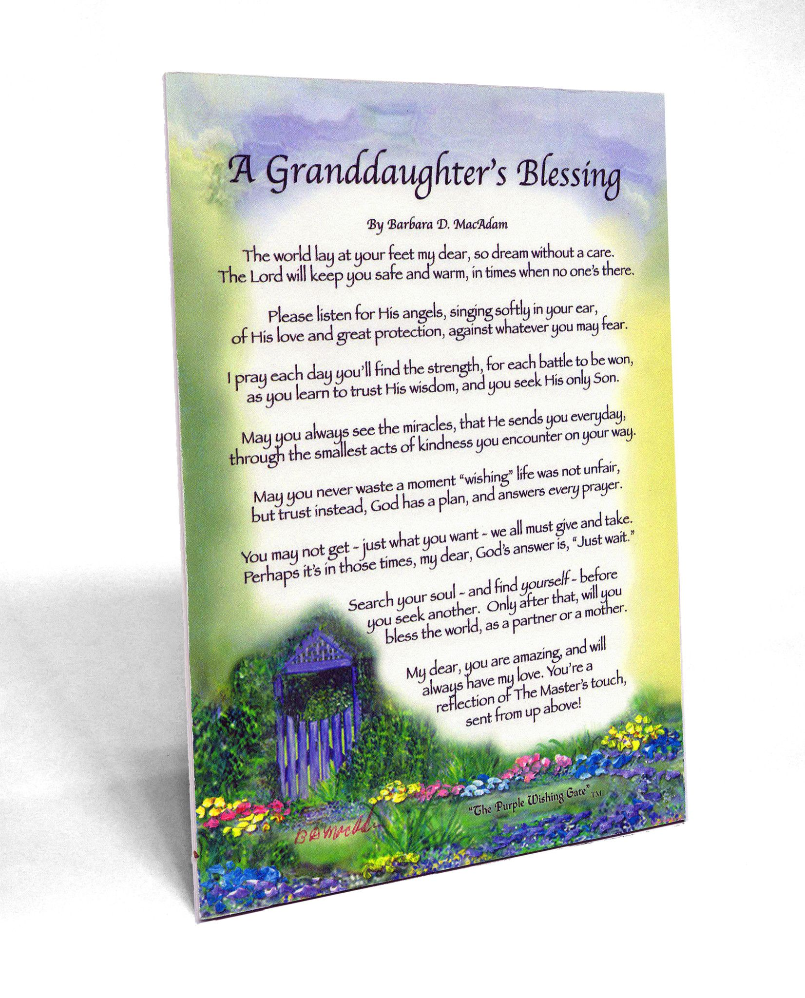 A Granddaughter's Blessing for baby (5x7) - 5x7 Frame-able Gift Clearance