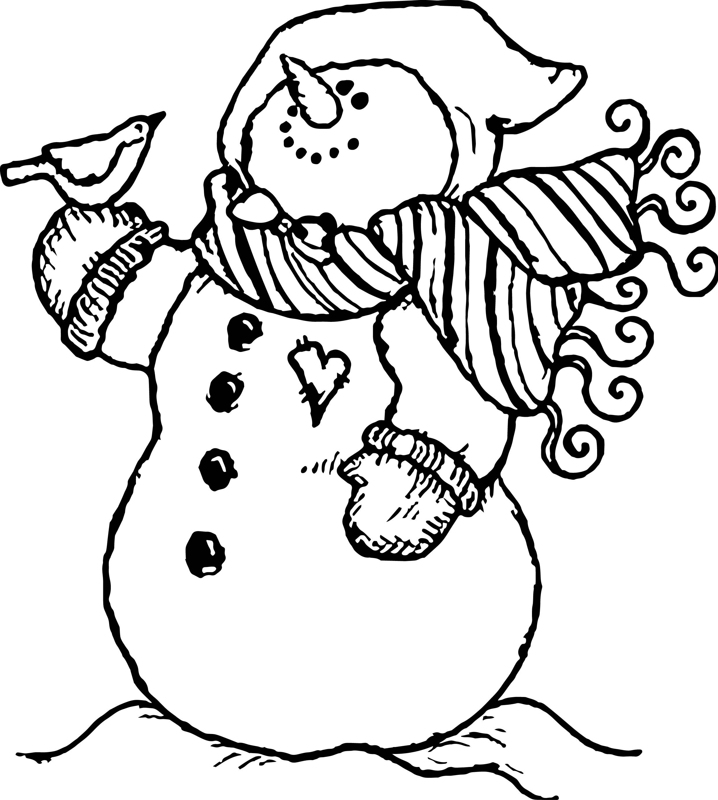 Cute Snowman Coloring Pages Ideas For Toddlers | Snowman ...