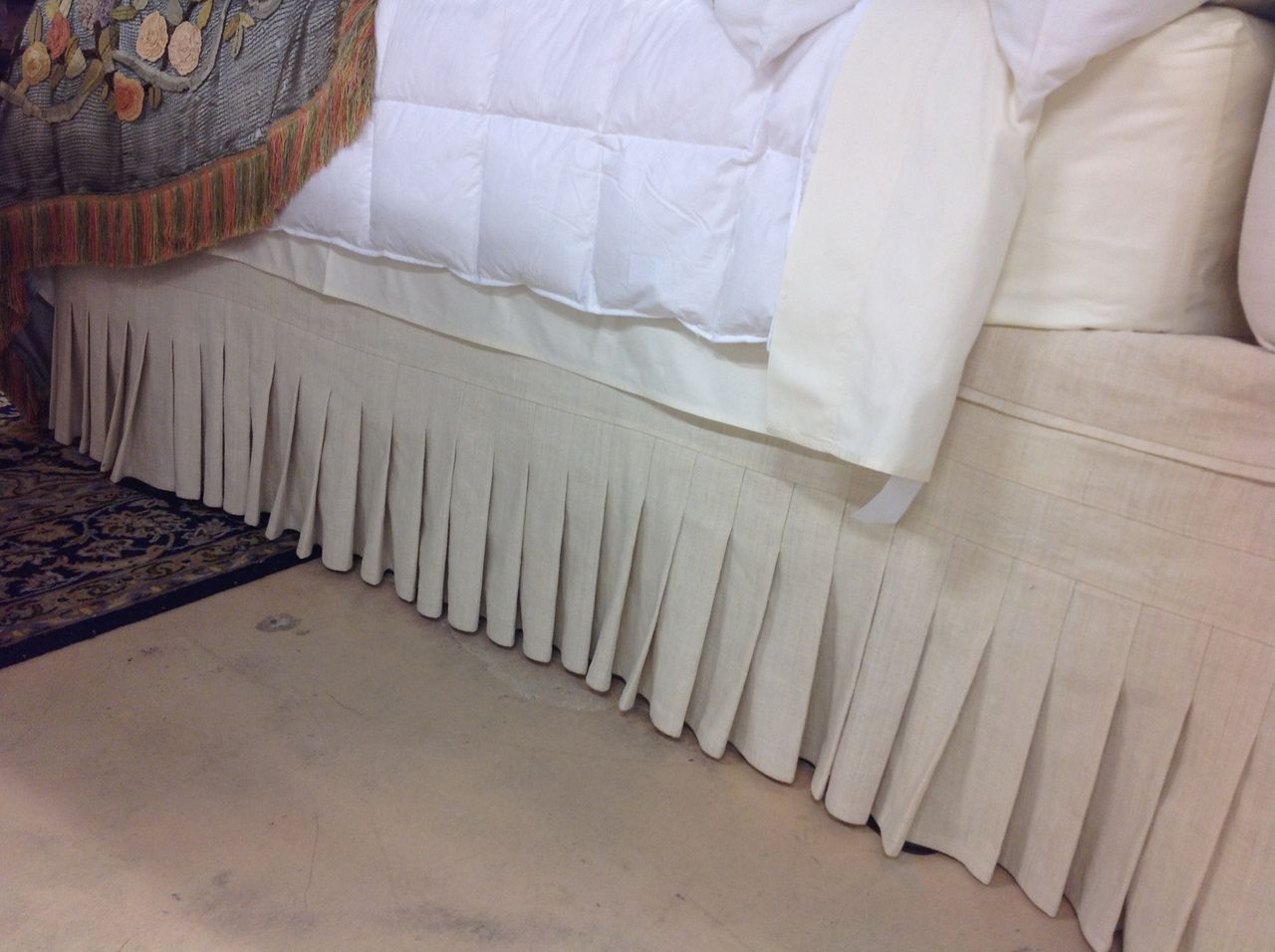 Bedskirt With Narrow Knife Pleats Bedskirt Bed Decor Queen Size Bedding