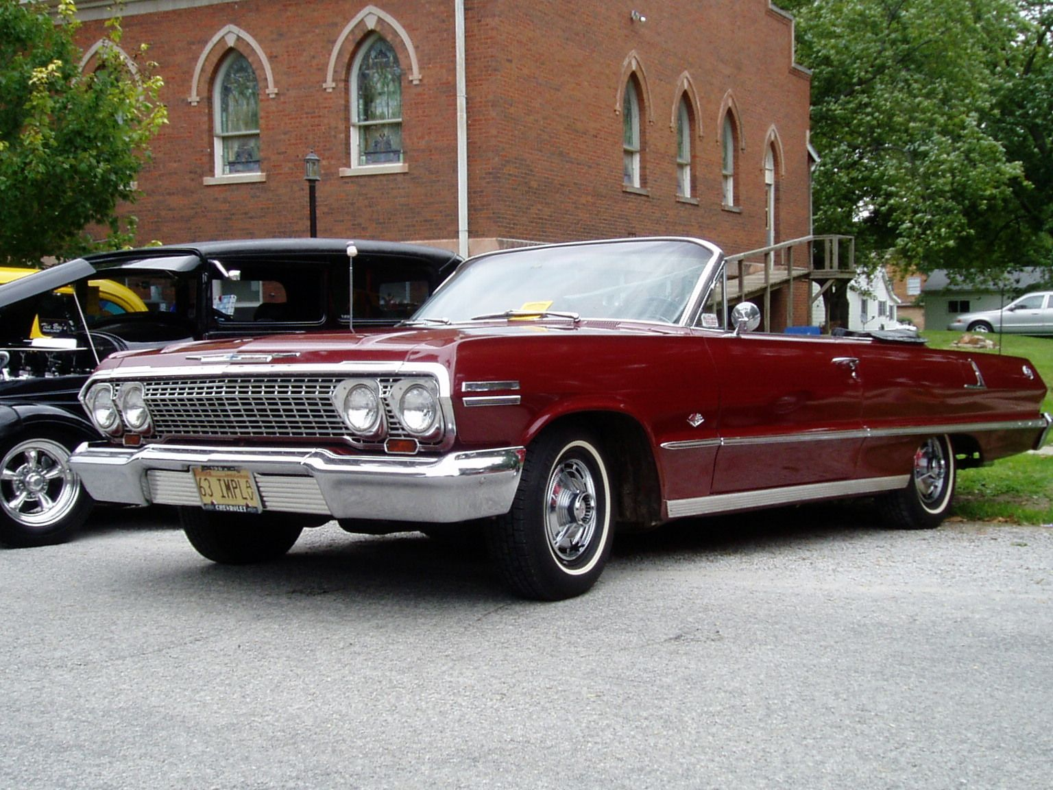 My first car -- 1963 Chevy Impala Convertible - Maroon! Bought it in ...