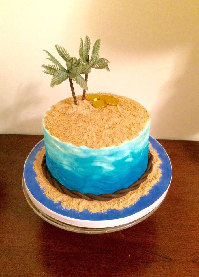 Simple Buttercream Beach Cake Sweetsbysindy Beach Cakes Island