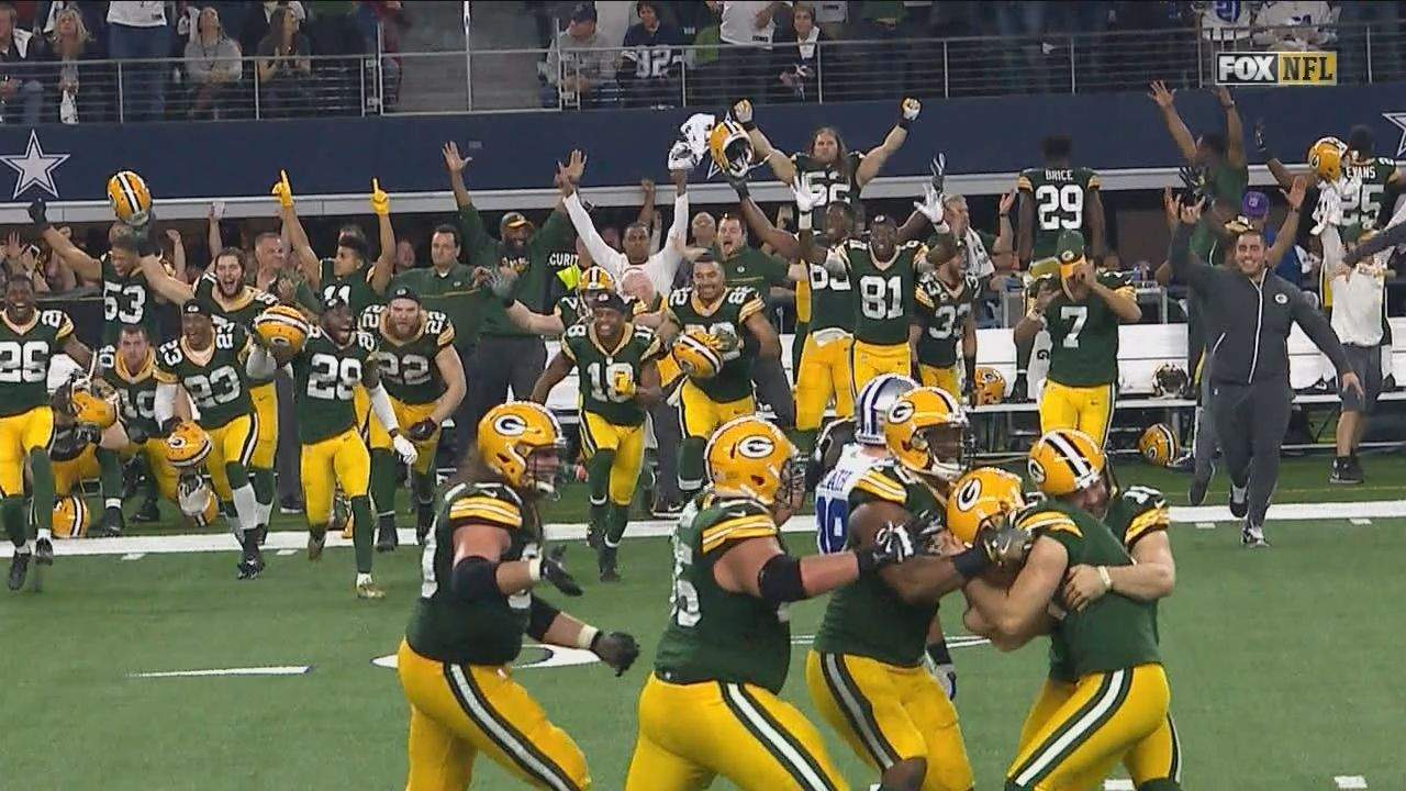 Packers And Cowboys Emotional Postgame Celebration Gave Way To Hugs Green Bay Packers Football Cowboys Playoffs Packers