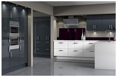 Woodbury Anthracite Modern Kitchen Range