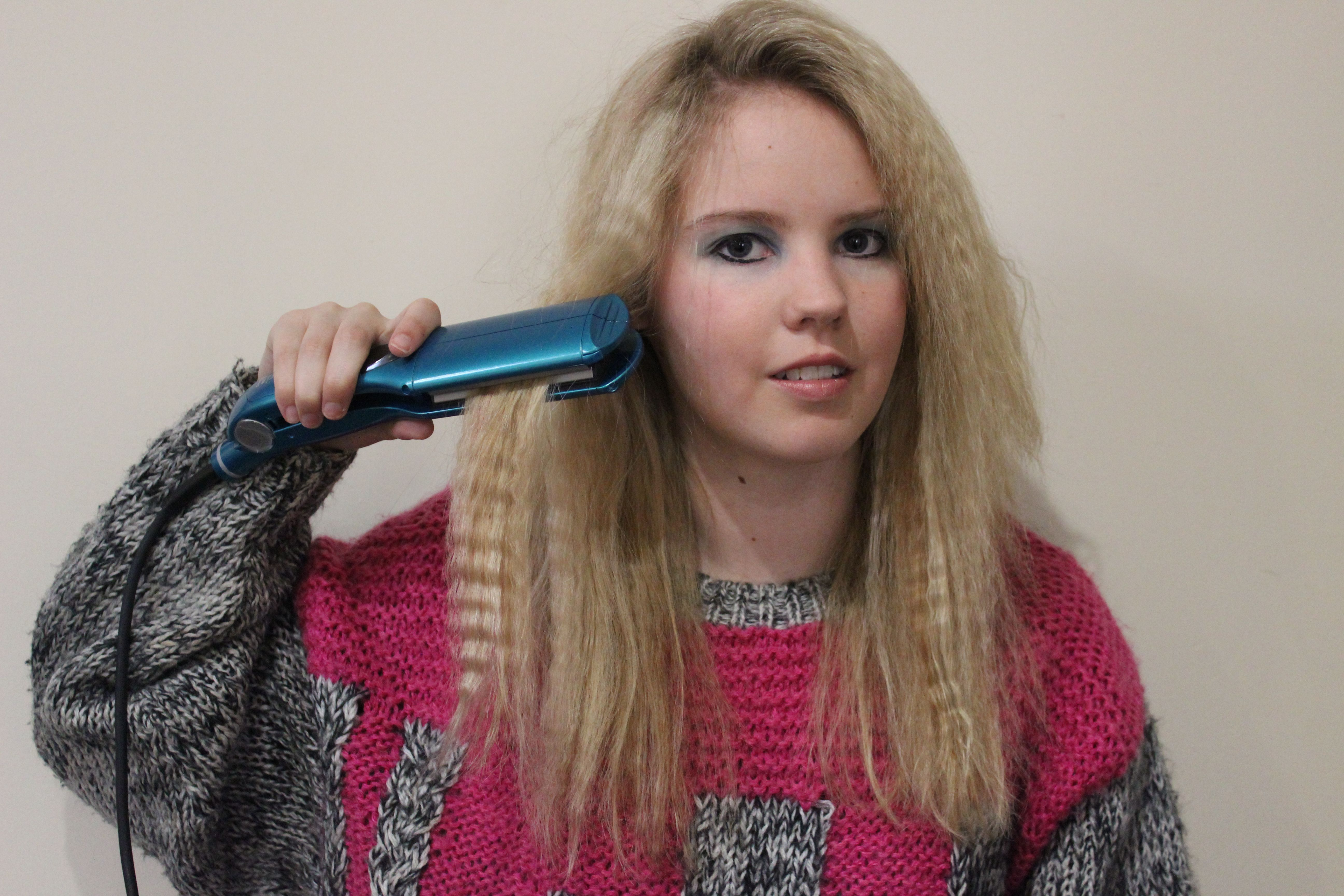 Hair crimping 80s or 90s