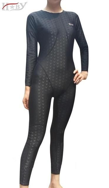 9b87e0170a4ef HBXY swimwear women swimsuit female arena swimming plus size racing suit  full body competition swimsuits competitive shark skin