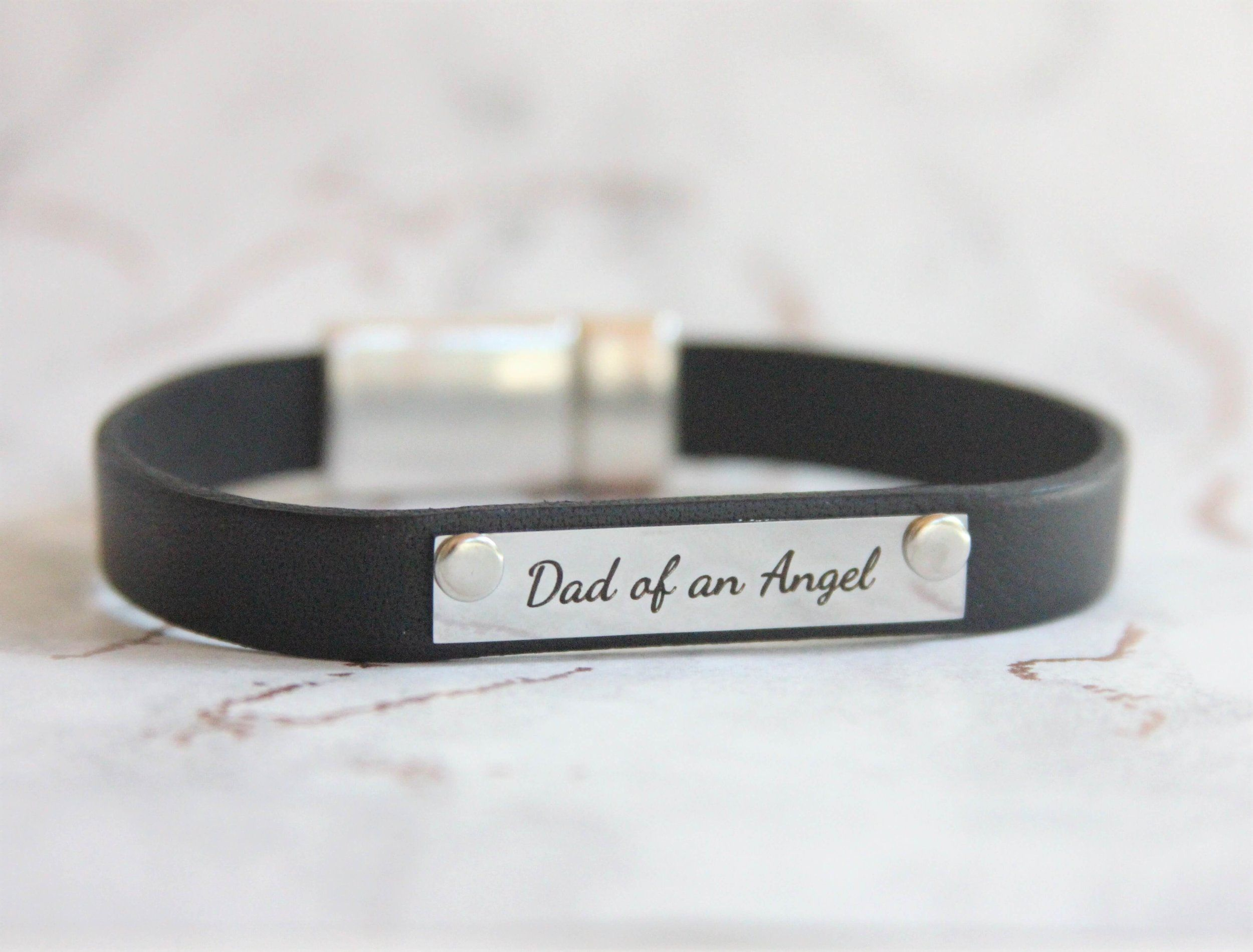 Memorial Leather Bracelet Gift Set For