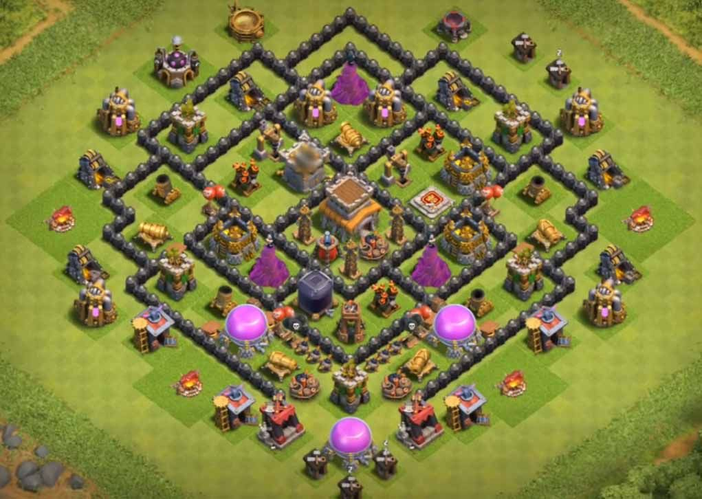 30 Th8 Trophy Base Link 2021 New Latest Anti Trophy Base Clash Of Clans Game Trophy