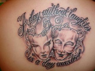 drama mask tattoo tattoos pinterest drama masks tattoo and tatting. Black Bedroom Furniture Sets. Home Design Ideas
