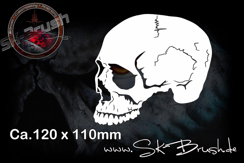 airbrush schablone f r sch del totenk pfe skull 39 s skulls profiline schablonen sk. Black Bedroom Furniture Sets. Home Design Ideas