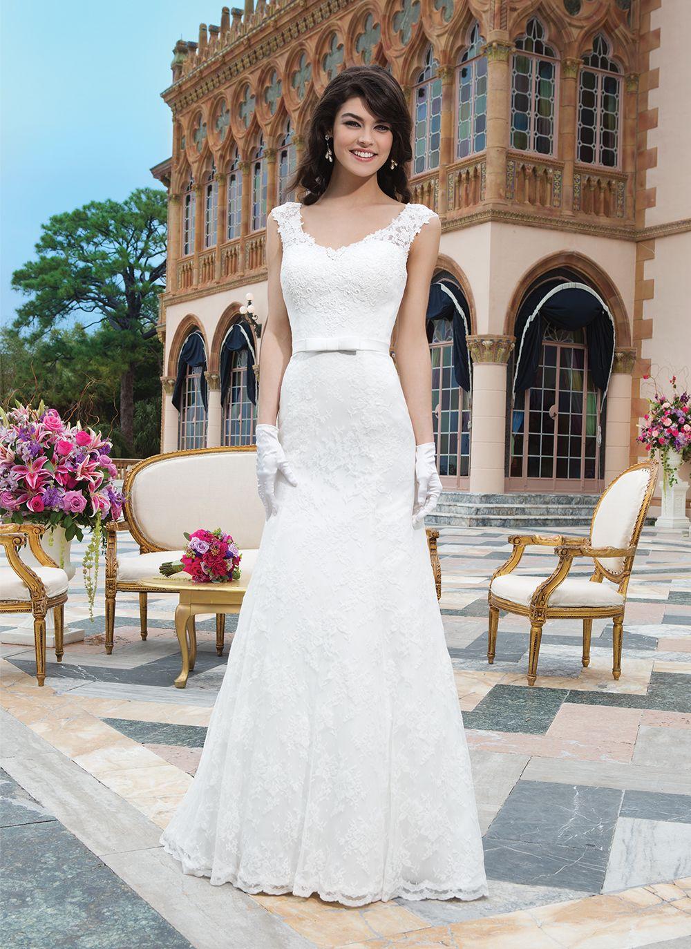 Sincerity wedding dress style 3835 Venice lace, rochelle lace fit ...