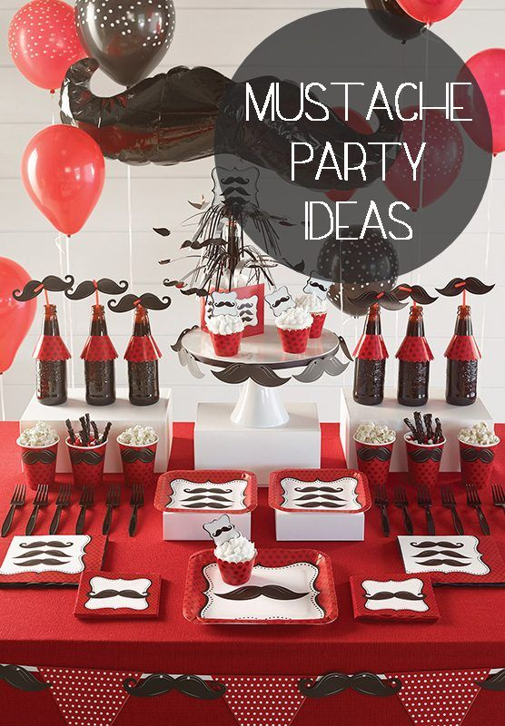 mustache party ideas raegan loves mustaches nice stuff pinterest party kinder. Black Bedroom Furniture Sets. Home Design Ideas
