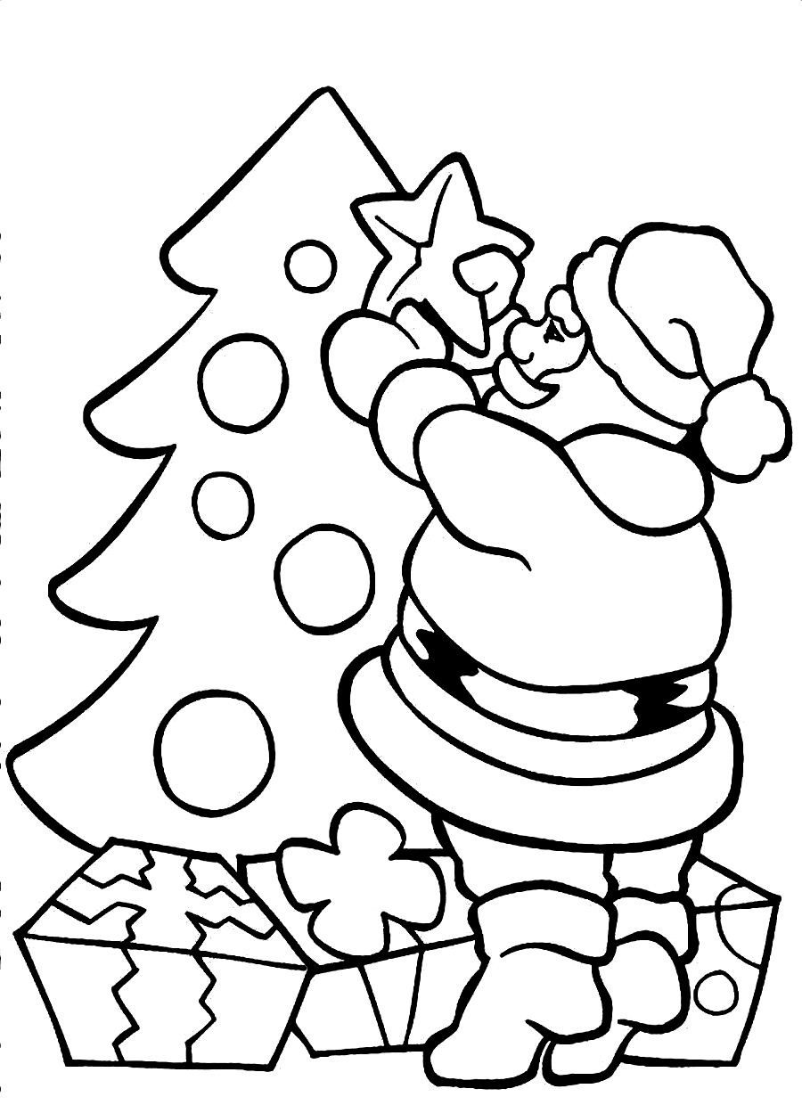 printable santa claus coloring pages coloring me | Animes ...