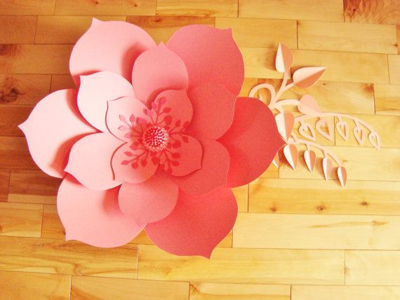 Large coral paper flower ready to ship paper flowers paper large coral paper flower ready to ship paper flowers paper flower decor flower wall decor baby nursery decor flower home decor mightylinksfo