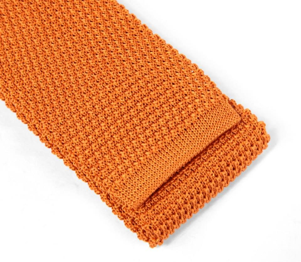1bd845f9ceb6 Cravate en tricot de soie orange - Maison de La Cravate.  tie  ties ...